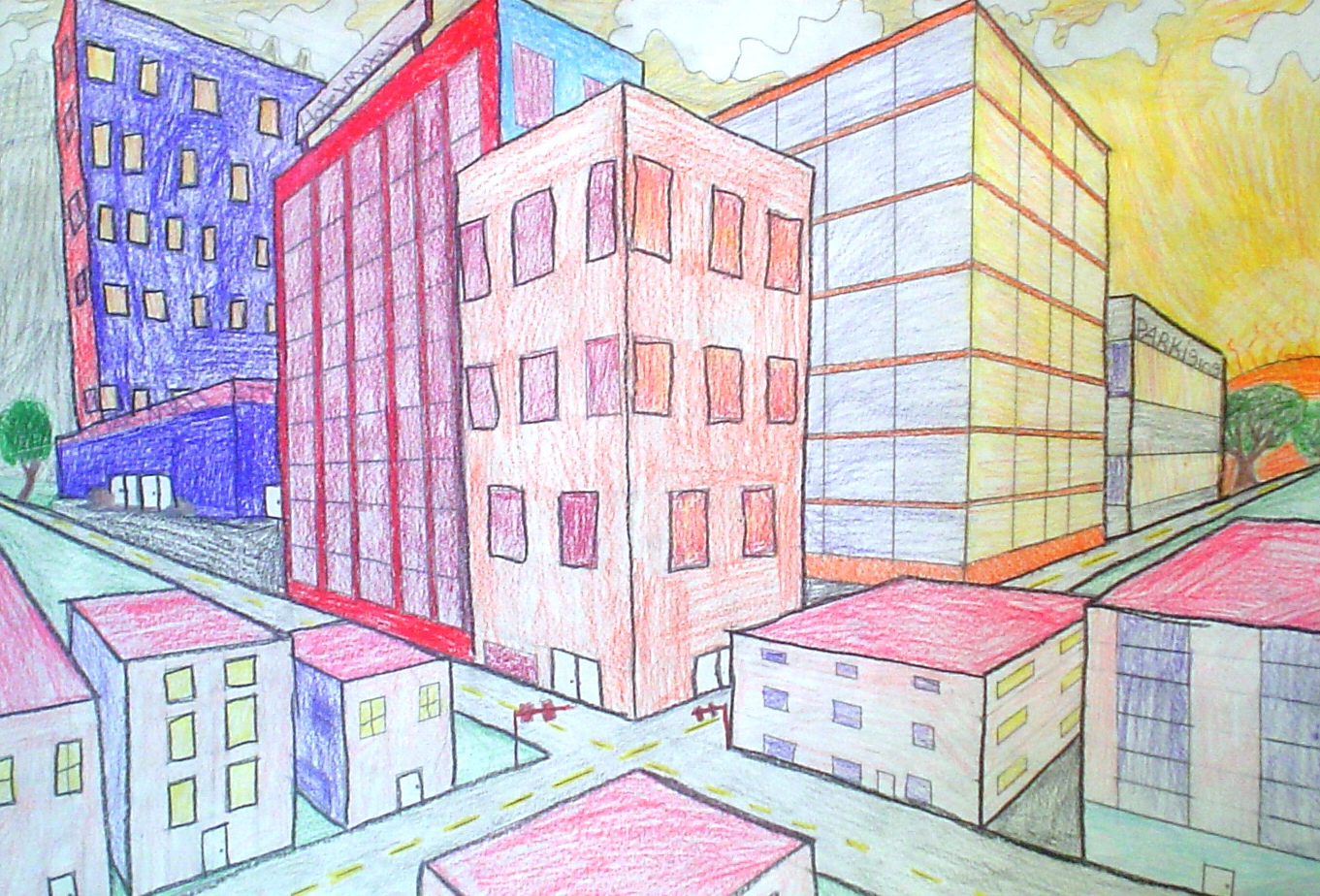 Two Point Perspective Drawings
