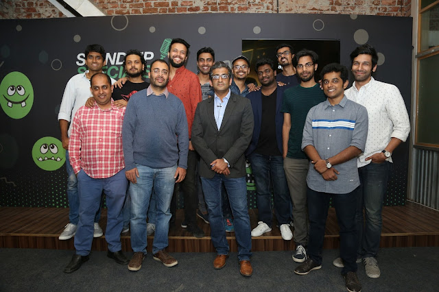 Amazon Standup special comedians with Mr. Nitesh Kripalani and Mr. Ajay Nair at the launch of Amazon Standup specials-