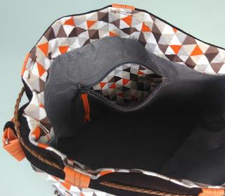 Bulle&Funambule-sac seau automne et poches zippées