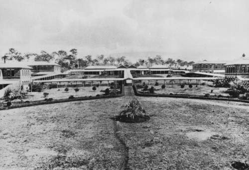 The symmetrical grounds of the Toowoomba Hospital for the Insane, ca.1902 (John Oxley Library).