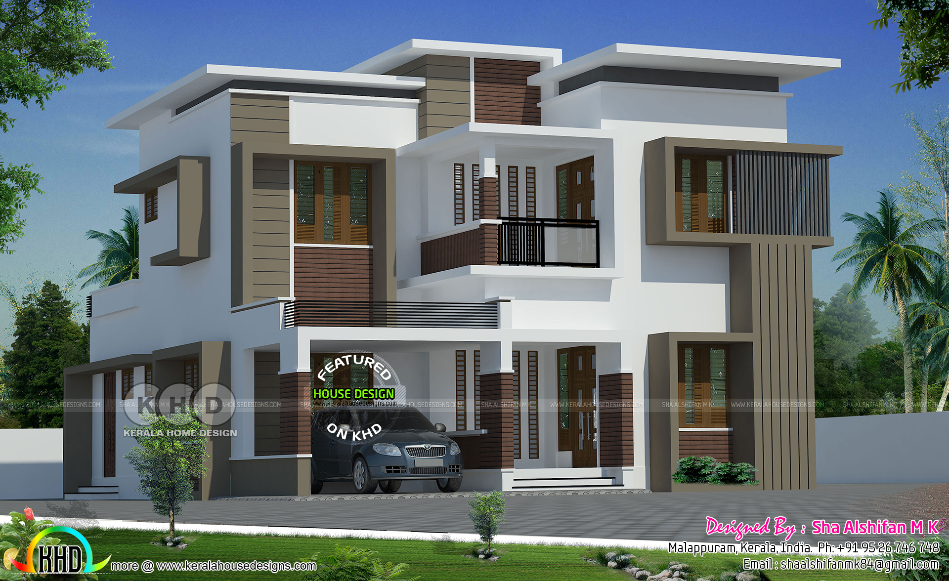 2189 Sq Ft Box Model Modern House Plan Kerala Home Design