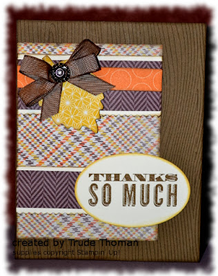 Stamp with Trude, Stampin' Up!, Thanksgiving, fall,