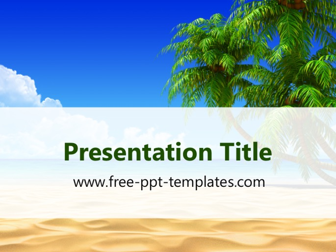 tropical beach ppt template, Modern powerpoint