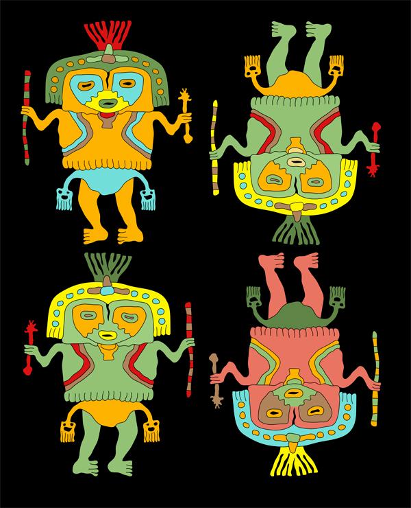 paracas figures, paracas textile, andean culture, paracas culture