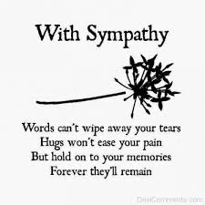condolence with sympathy