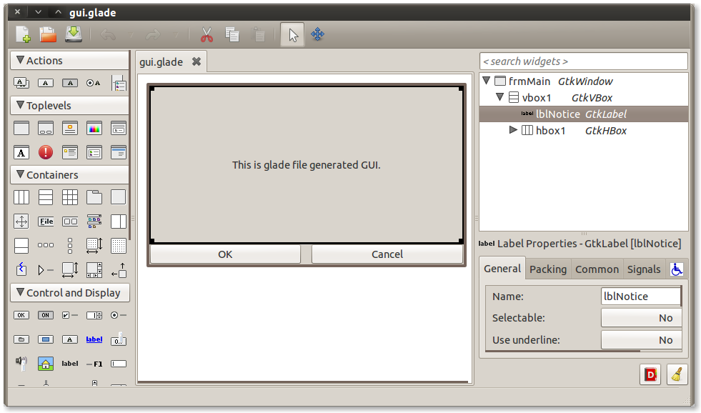 Milinda Pro: Create GUI with G...