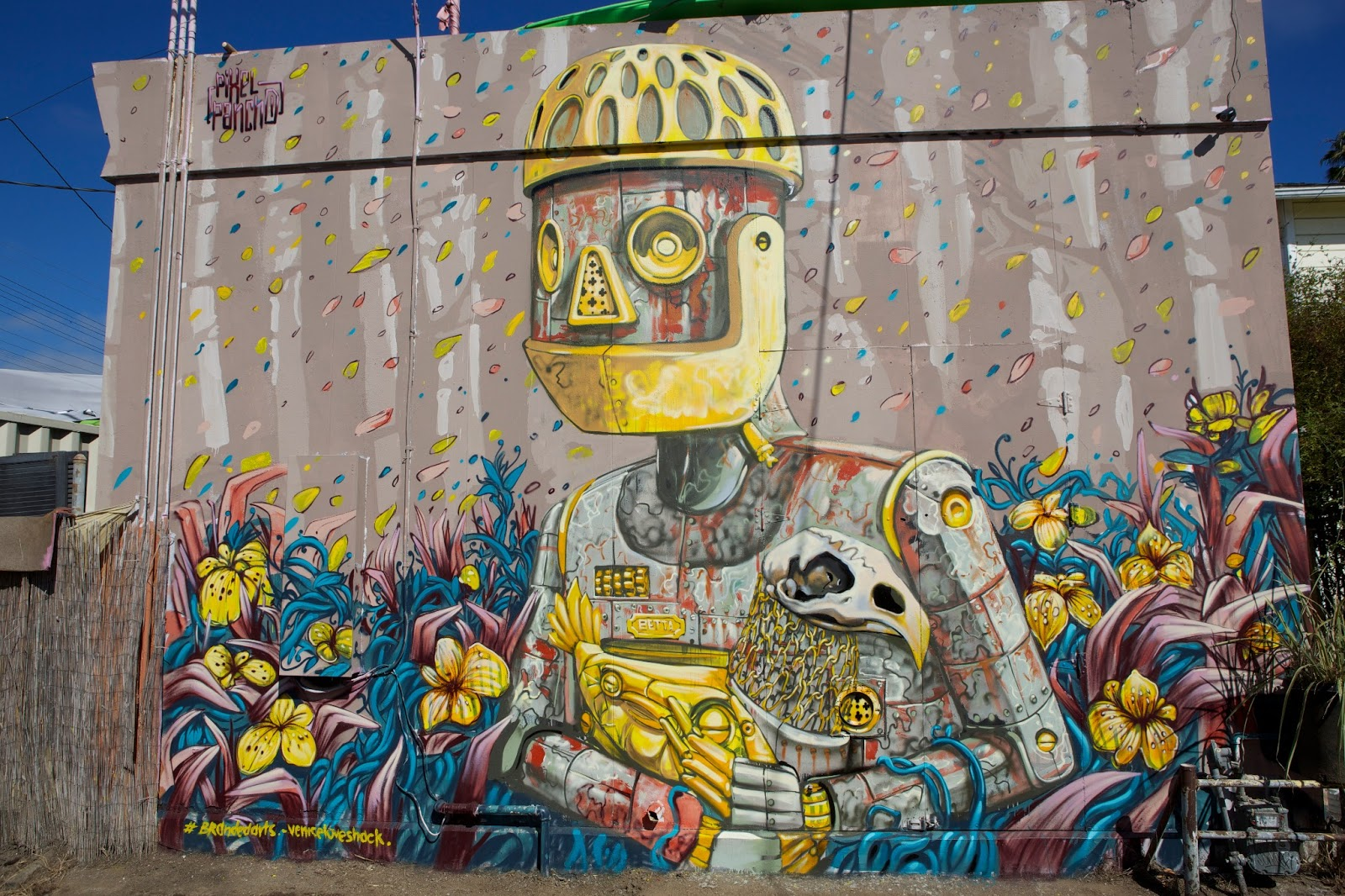 Pixel Pancho New Mural In Los Angeles California Streetartnews