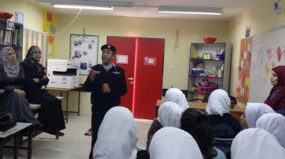 الشرطة تنظم محاضرة حول الجرائم الالكترونية في مدرسة بنات بيرنبالا