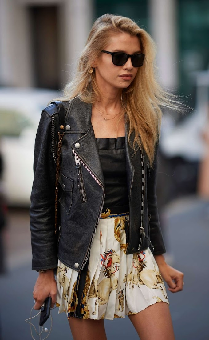 Stella Maxwell – Arriving at the Versace Fashion Show i