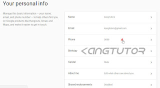 cara verifikasi Email dengan nomor Hp