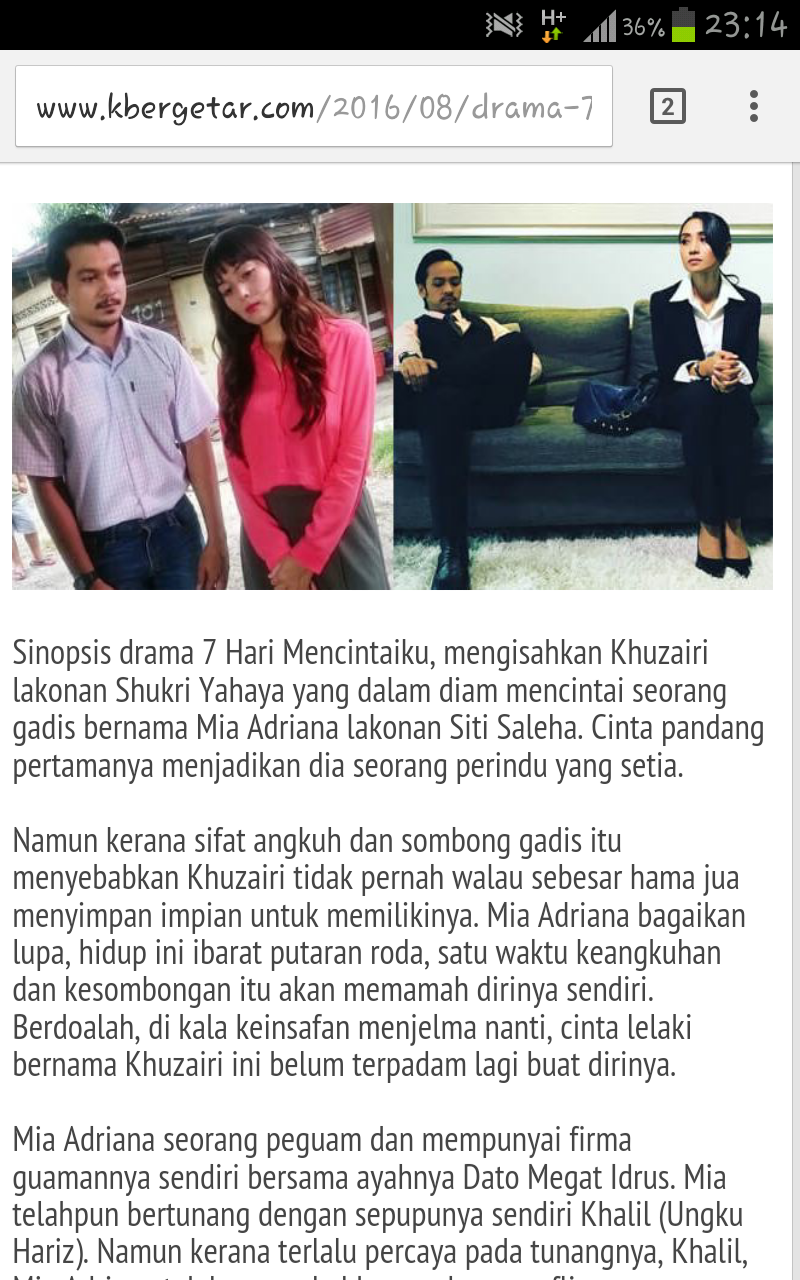 Drama 7 Hari Mencintaiku Di Slot Akasia?