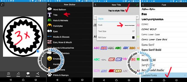 tutor picsay android buat logo bulat