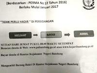 Cara Bayar Tilang Secara Online Pengadilan Negeri Bandung