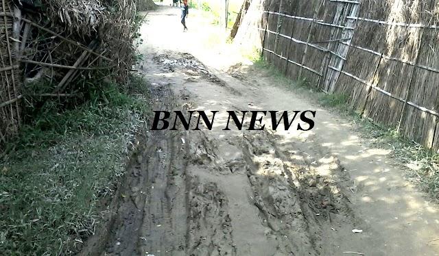विकास से कोसों दूर परसौना का मधवापट्टी गांव, पगडंडी से आवाजाही करते है ग्रामीण