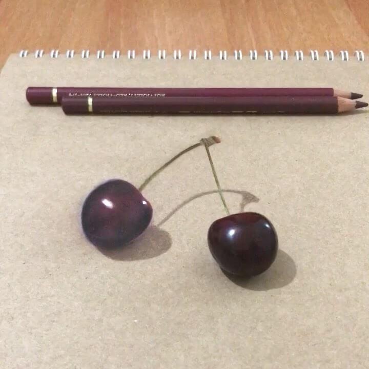 15-Cherries-Elif-Nihan-Sahin-3D-Drawing-www-designstack-co
