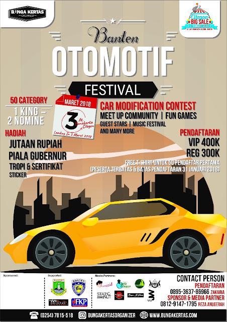 Kamu Suka Memodifikasi Sepeda Motor? Ikutan Banten Otomotif Festival!