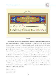 8. Sınıf Kuranı Kerim Ders Kitabı Cevapları Dikey Yayınları Sayfa 13
