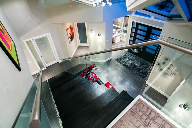 Stairs in Contemporary home by Trevor Euley in Canada from above