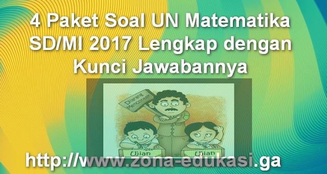 4 Paket Soal UN Matematika SD/MI