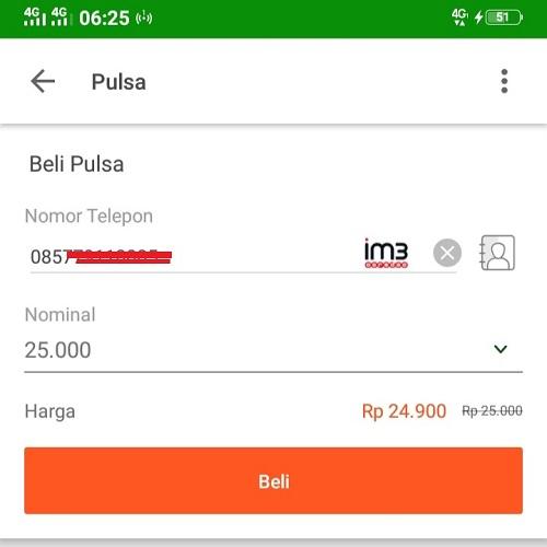 Cara Beli Pulsa Indosat IM3 Pakai KlikBCA di Tokopedia