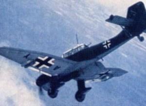 O Stuka, bombardeiro tático alemão, terá uma especial importância na batalha.