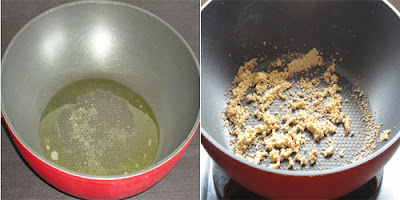 heat ghee in a kadai and fry poppy seeds