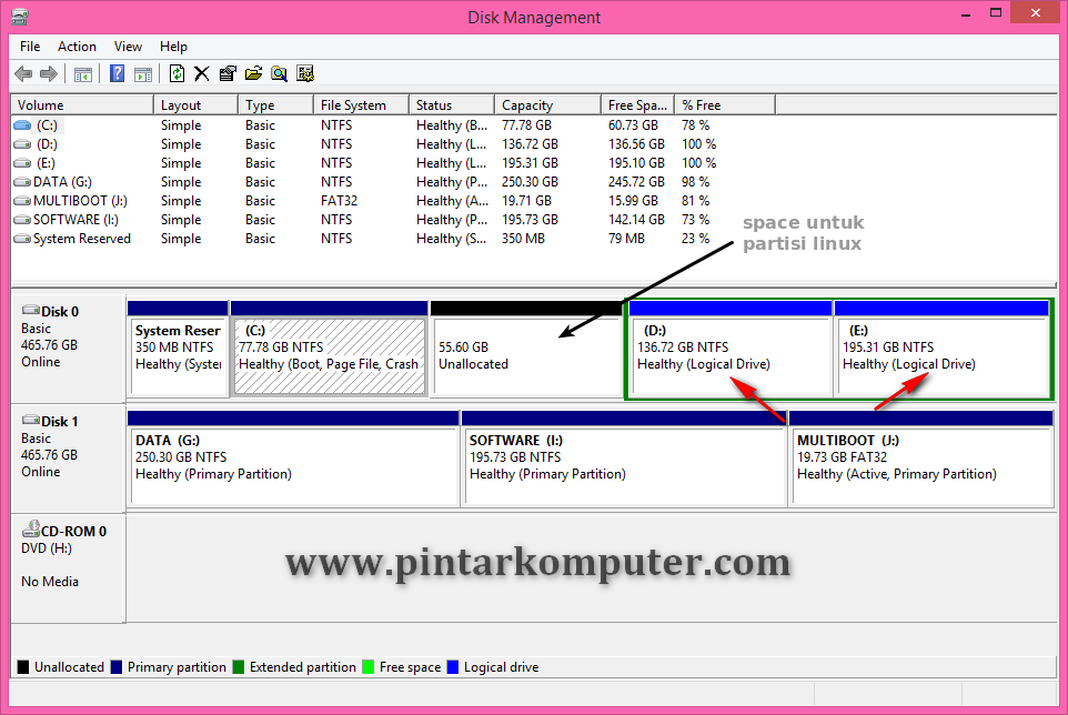 Cara Dual Boot Ubuntu 14.04 LTS dan Windows 8.1