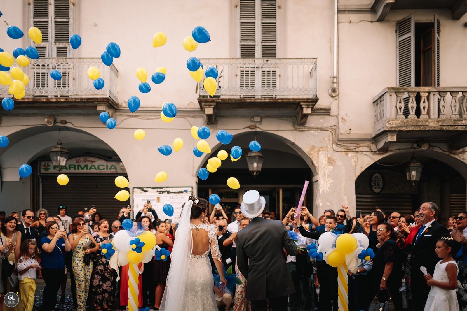 Il volo dei palloncini matrimonio