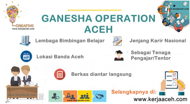 Lowongan Kerja Aceh Terbaru 2018  di Banda Aceh Bimbel Ganesha Operation