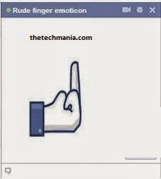 facebook chat emotions Mid Finger
