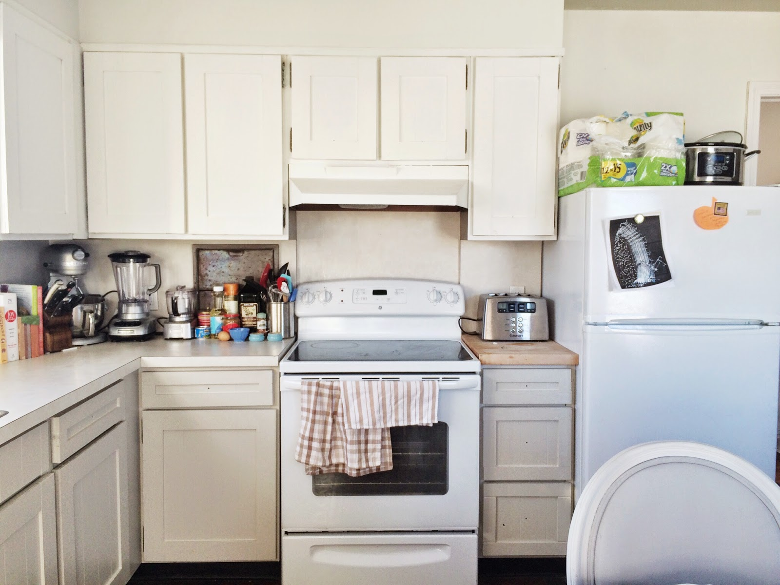 How to: Paint & Add Shaker Trim to Kitchen Cabinets