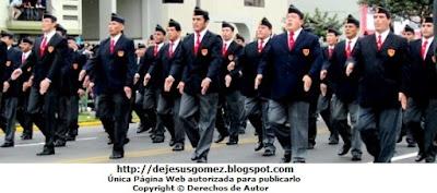 Delegación del Colegio Militar Leoncio Prado (Promoción XLI) La Perla Callao - Perú tomada por Jesus Gómez