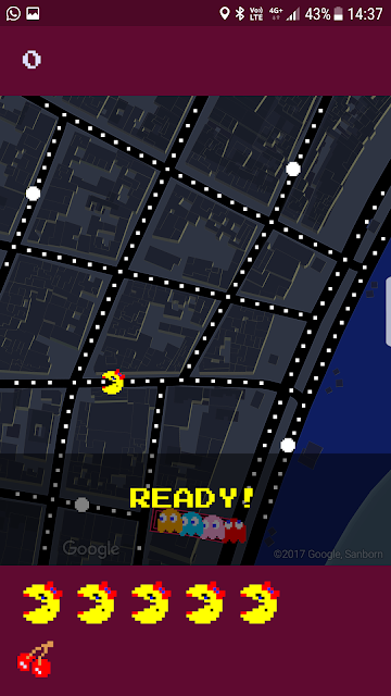 Pac-Man on Google Maps