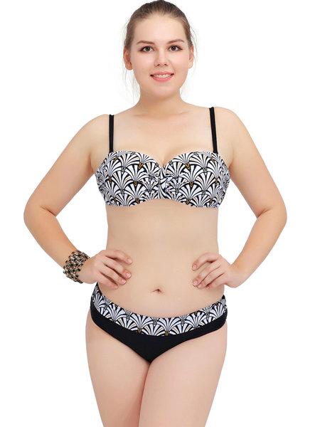 Straped Printed Padded Bikini