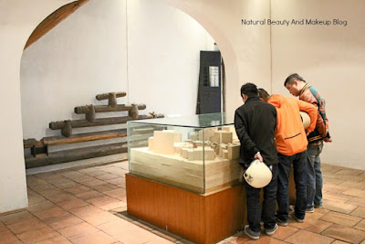 Artifacts viewing by tourists at Casa Do Mandarim or Mandarin's House. UNESCO world heritage site and forms a part of Historic Centre Of Macao