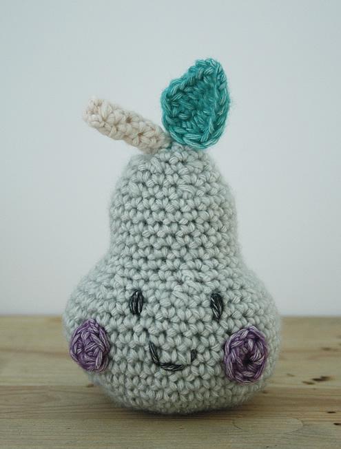 Crochet pear | Happy in Red