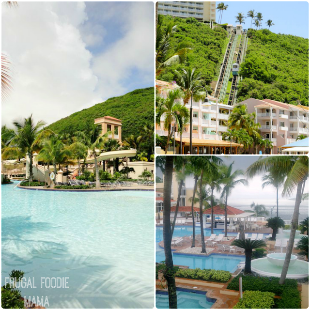 The El Conquistador Resort in Puerto Rico boasts 7 pools, it's own water park, and ccess to a private island
