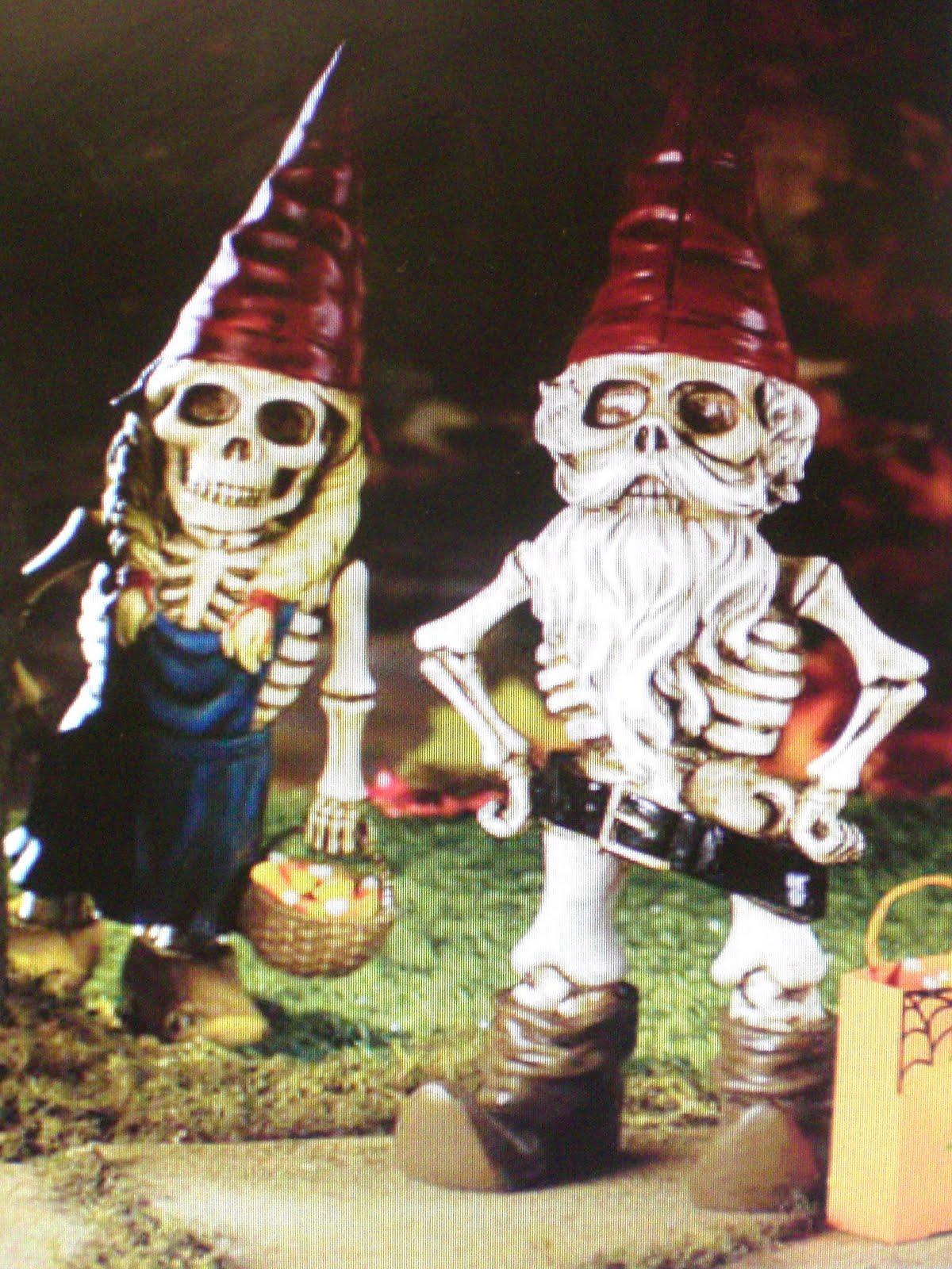 Female Garden Gnomes: Midnight In The Garden Of Evil: Female Skeleton Gnome