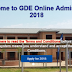 how to apply online for GDE Admissions 2019