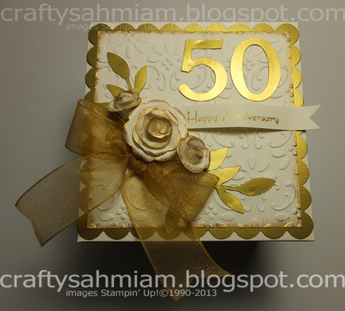 This Exploding Box Photo Album Is So Unique And Amazing: Crafty Sahm I Am: 50th Anniversary Scrapbook In A Box