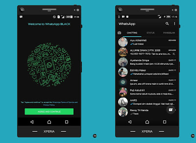 Download Whatsapp Black Theme Apk Mod Terbaru