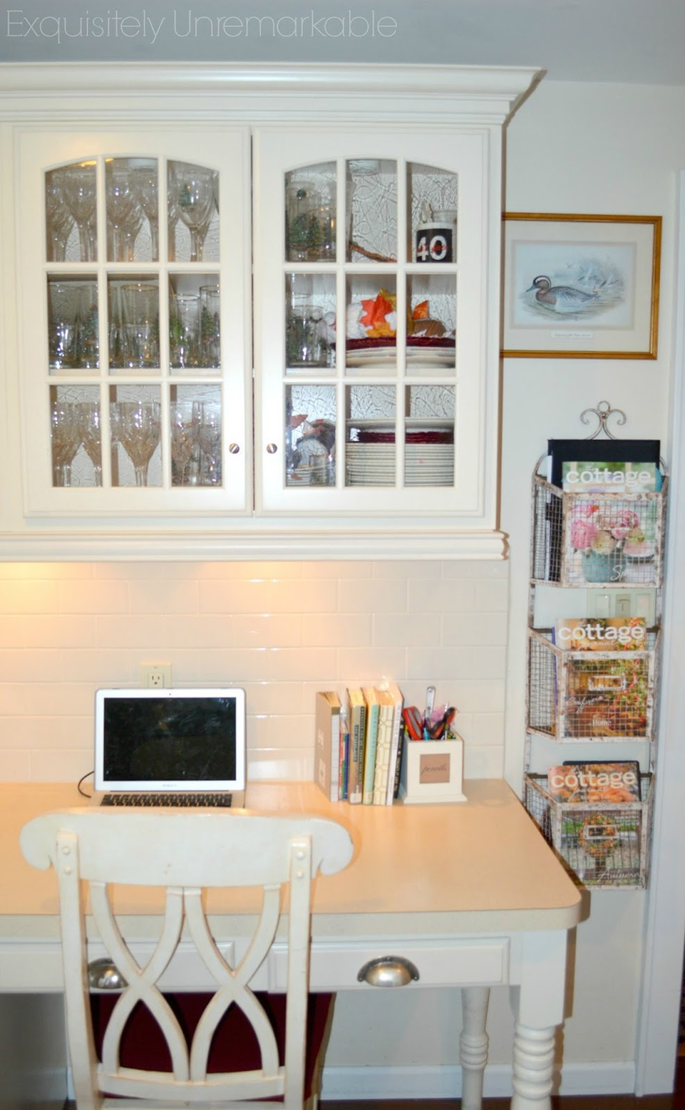 Country kitchen desk area