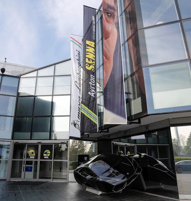 Lamborghini homenageia Ayrton Senna em exposição - Itália