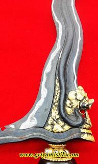 Keris Naga Raja Kinatah Emas Asli