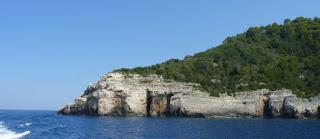 Costa oeste de la Isla de Paxos.