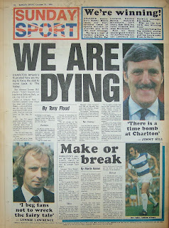 Back page of the Sunday Sport newspaper from 19th Oct 86