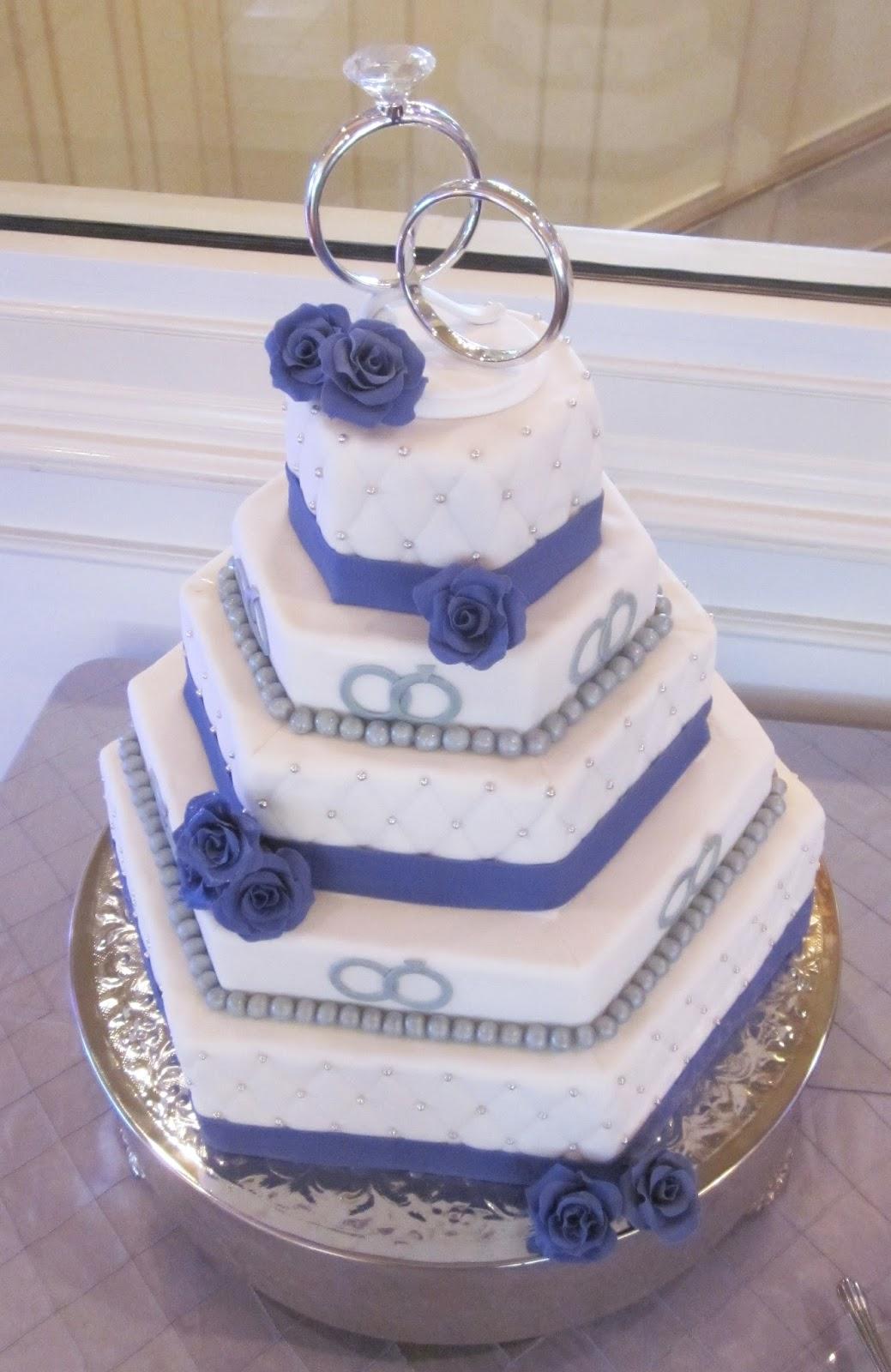 Darlin Designs Hexagon Wedding Cake