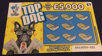 National Lottery £1 Top Dog Scratch Card (2019)