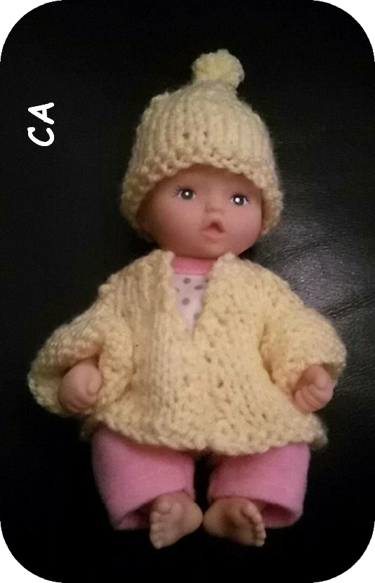 Crafting For Shoeboxes Bobble Hat Cardigan For A Mini Baby Doll