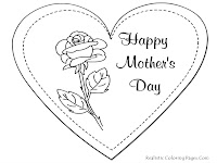 Mothers Day Greeting Card Printable Coloring Pages